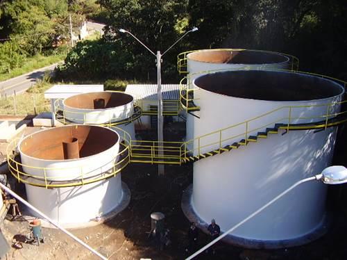Estação de tratamento de esgoto doméstico ETE UASB + BAS, Cidade Lindóia, 5.000 hab (15 Litros por segundo)