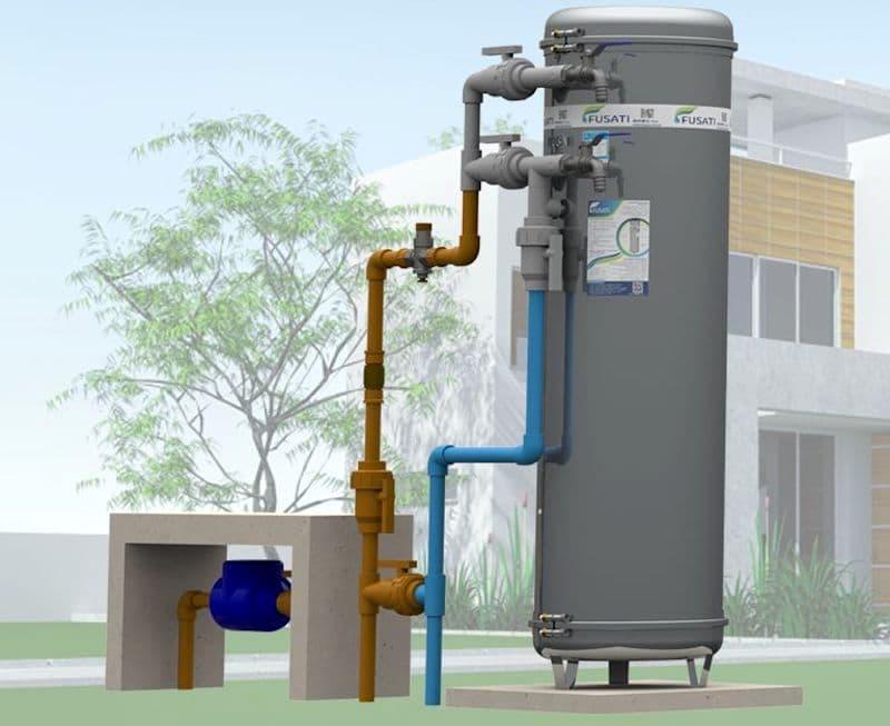 Filtro de Água para Casa Filtro Central retrolavável.